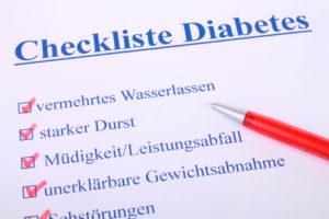 Diabetes Anzeichen Checkliste